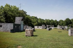 Airstrip paintball field near Indianapolis
