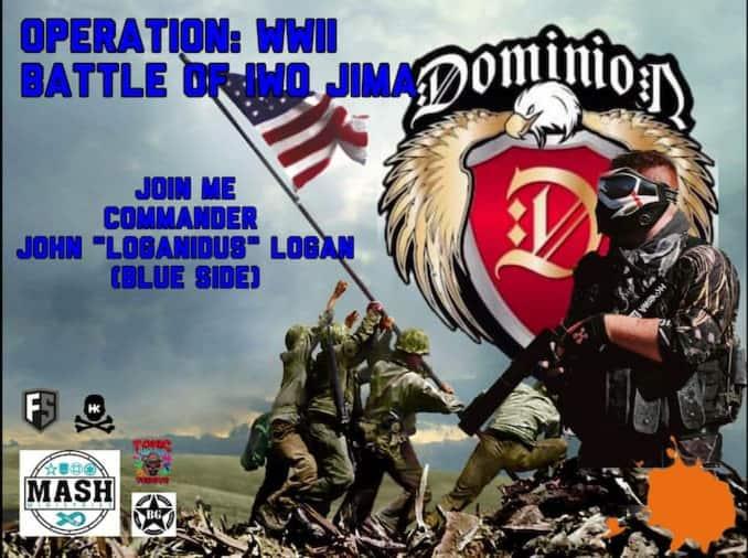 Blue team for Indianapolis Iwo Jima paintball scenario