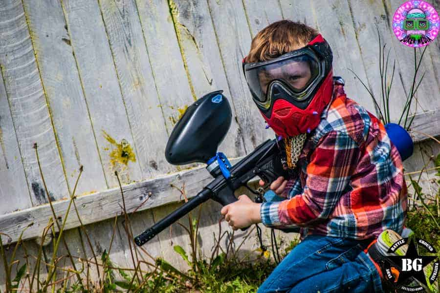 Indianapolis boy playing low impact paintball
